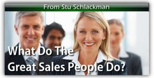 What Do The Great Salespeople Do?
