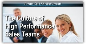 The Culture of High Performance Sales Teams